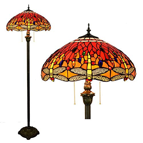 LOSA 18 Zoll Tiffany Bodenlampe Retro Creative Stay Esszimmer Schlafzimmer Nachtlampe Lampenschirm E27