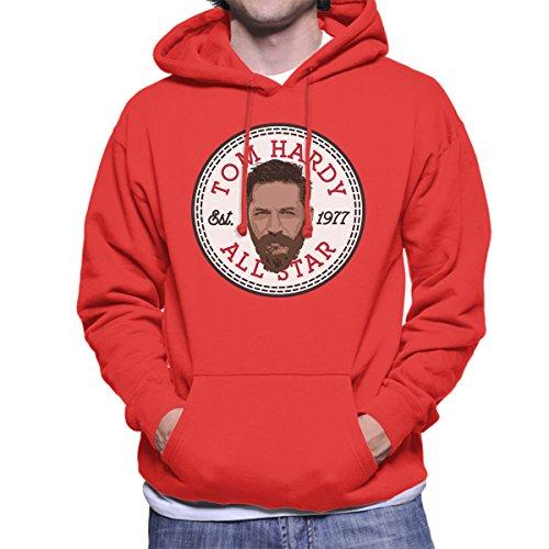 Tom Hardy All Star Converse Logo Men's Hooded Sweatshirt Red