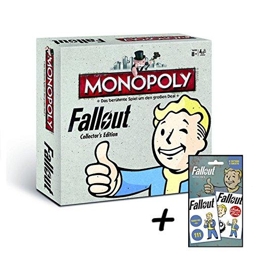 fallout 4 monopoly Fallout Monopoly Collector's Edition (deutsch) Brettspiel Gesellschaftsspiel (+ Tattoo Pack)