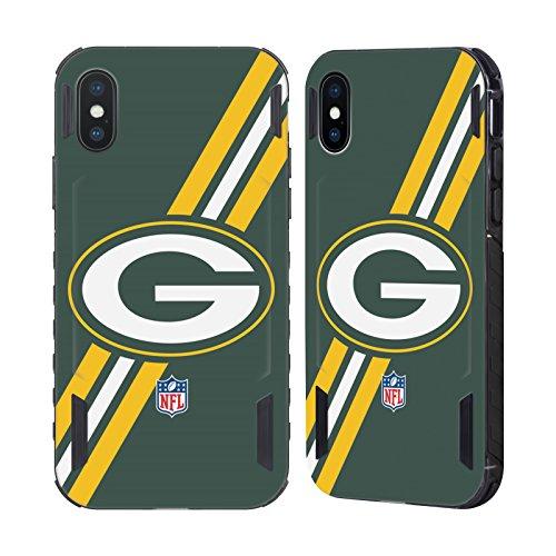 Bay Schnitt (Offizielle NFL Streifen Green Bay Packers Logo Schwarz Evolution Hülle für Apple iPhone X)