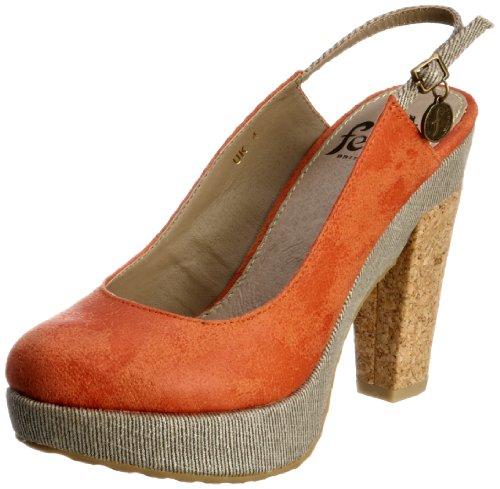 Feud Britannia Wasp 202456046, Damen Fashion-Sandalen, Orange (Orange Vintage), 38 EU/5 UK