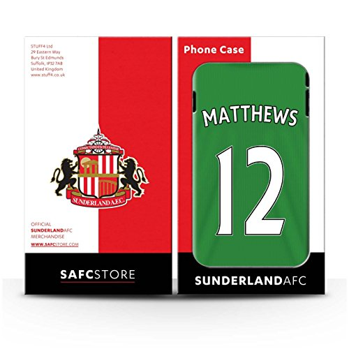 Officiel Sunderland AFC Coque / Matte Robuste Antichoc Etui pour Apple iPhone 6S / Pack 24pcs Design / SAFC Maillot Extérieur 15/16 Collection Matthews