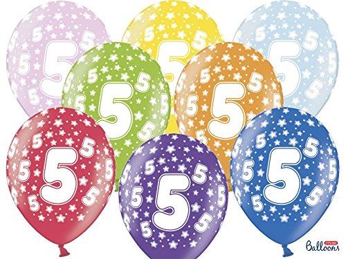 5. Geburtstag bunt gemischt 6 Stück ()