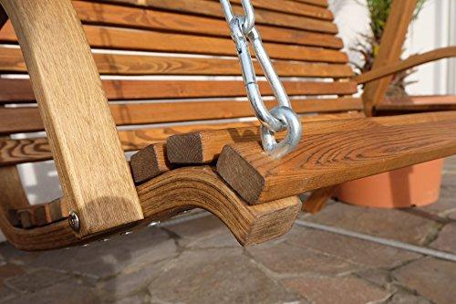 Design Hollywoodschaukel RIO aus Holz Lärche mit Dach von AS-S - 7