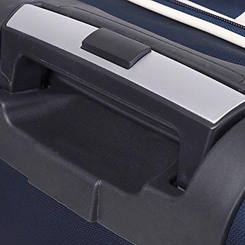 CHENGYANG Reisetasche Outdoor Sporttasche Trolley Tasche für Handgepäck Leichte Reisekoffer Reisetrolley Groß Fassungsmögen Travel Duffles Blau 60cm Blau