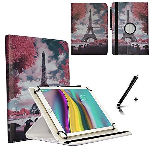 JP-WELT Tablethülle für Denver TAQ-10182 Schutzhüllen Tablet Case Tasche Hülle - 10.1 (10.5) Zoll Paris