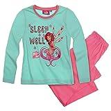 Mia and Me Mädchen Pyjama 2-Teiler Schlafanzug lang 3 Varianten, Farbe:mintgrün, Größe:92