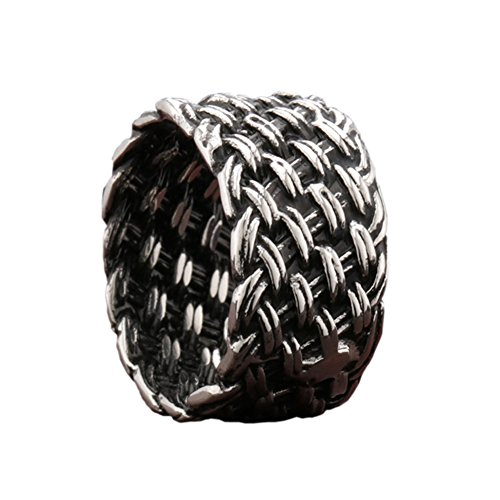 Celtic Knot Ring Stainless Steel Tribal Viking Medieval Gothic Silver Band Braid
