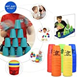 Giocattoli educativi,WINWINTOM 12PC / Set Cups Stacking Speed Speed Stacks Concorrente Sport Toys Magic Fying Cup