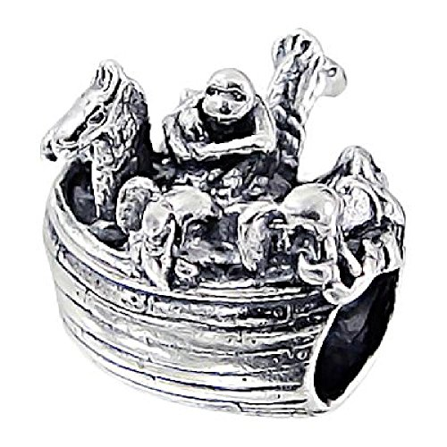 So chic gioielli - charm arca di noè animali battello nave argento sterling 925/000 - compatible con pandora, trollbeads, chamilia, biagi