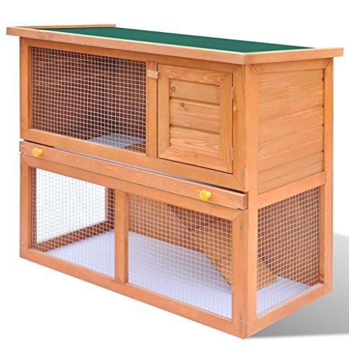 Festnight gabbia coniglio all'aperto per piccoli animali domestici 1 porta legno