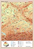 Posterkarten Geographie: Bayern: physisch / politisch