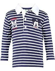 DISNEY Niños Mickey Mouse Camisa Polo, azul oscuro