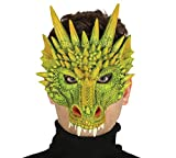 Guirca Grüne Drachen Latex Maske Halloween Horror Halloweenmaske Drachenmaske Tiermaske