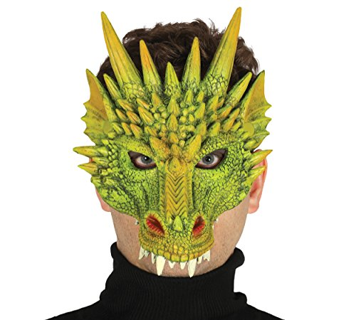 Maske Halloween Horror Halloweenmaske Drachenmaske Tiermaske (Grüne Maske Film)