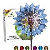Best Wind Spinners - Solar Wind Spinner Azure 75in Multi-Colour LED Light Review