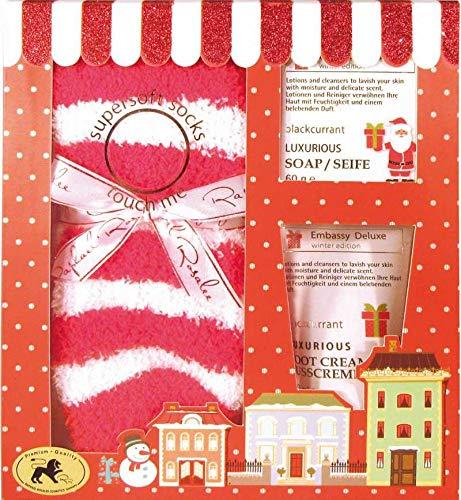 Embassy Deluxe No. 211, Granatapfel & Cranberry, Beauty & Wellness Geschenkset (3-teilig) von Raphael Rosalee Cosmetics