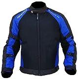 MOTOTECH Scrambler AIR Motorcycle Jacket - Combo Colors - Orange/Flo Green/Grey (5XL, Black + Blue)