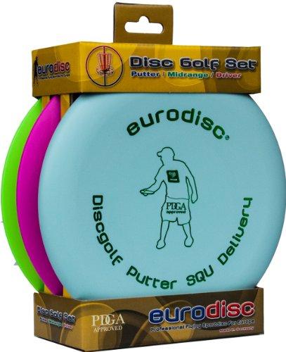 Eurodisc Disc Golf Einsteiger-Starterset SQU Putter Midrange Driver PDGA approved MINT