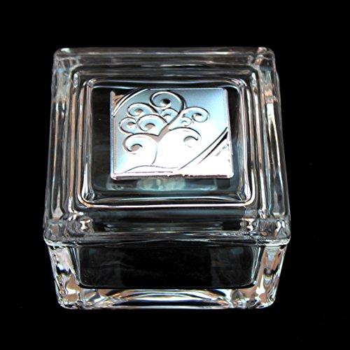 Dlm24515 scatola portagioie in vetro con albero della vita bomboniera