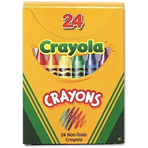 Classic Color Pack Crayons, Tuck Box, 24/Box, Sold as 1 Box