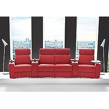 heimkino sessel kinosessel kinosofa mit 4 platzen cinema hollywood relaxfunktion staufachern und getrankehalter roma 2