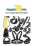 #6: PowerPak 12-in-1 Outdoor Sports Essentials Kit for Action Camera GoPro Silver Black Hero 6 5 4 3+ 3 2 1, SJCAM SJ4000 SJ5000 SJ6