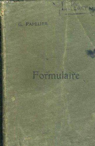 FORMULAIRE DE MATHEMATIQUES SPECIALES - ALGEBRE ANALYSE TRIGONOMETRIE GEOMETRIE ANALYTIQUE.