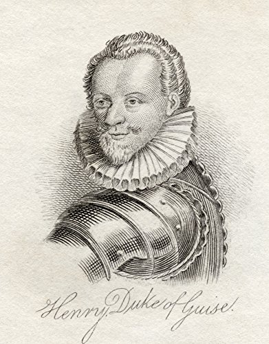 Ken Welsh / Design Pics - Henry I Prince Of Joinville Duke Of Guise Count Of Eu 1550 _ 1588 Aka Le Balafre The Scarred From The Book Crabbs Historical Dictionary Published 1825 Photo Print (30,48 x 40,64 cm) -