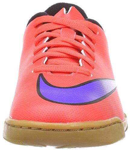 Nike - Jr. Mercurial Vortex Ii Ic, Scarpe Da Calcio infantile Rosso (bright crimson/prsn violet-blk)