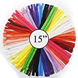 Kgs 15 inch Nylon Zipper #3   Unique Colors   10 Zippers/Pack