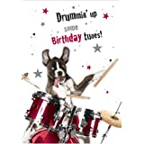 Drummin' Dog Sound Bites Musical Cards