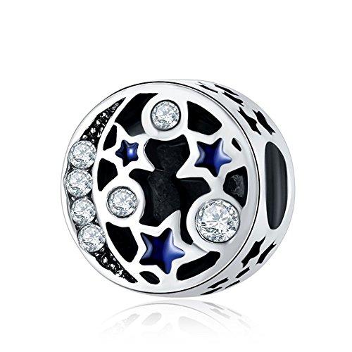 Waya plata charms estrella con transparencia sintética perlas de cristal collar con colgante de para pulseras brazalete cadena de serpiente joyas