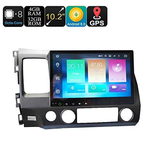 Honda 2 Din Car Media Player 10.2 Inch Screen 4+32GB Android 6.0 GPS WiFi