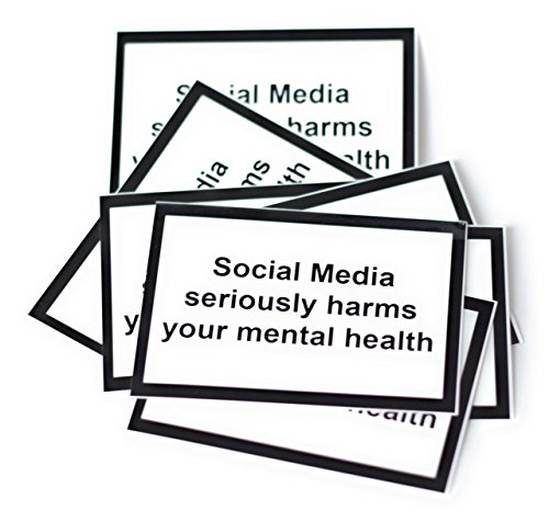Social Media Seriously Harms Your mental Health-Sticker/Aufkleber/DIN A8 (25 Stück)