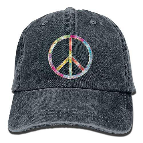 Kotdeqay Peace Rainbow Sign Womens Printing Baseball Cats Cowboy Hats Sun Hats ()