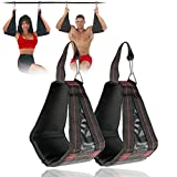 Sangle de Suspension Abdominaux 1 Paire Traction Suspension Ceinture avec Mousquetons en Métal Sling Abdominale Strap AB pour Gym Musculation Entraînement