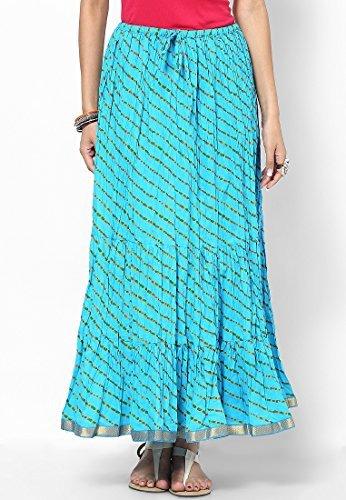 Soundarya Women Cotton Skirts -Blue -Free Size