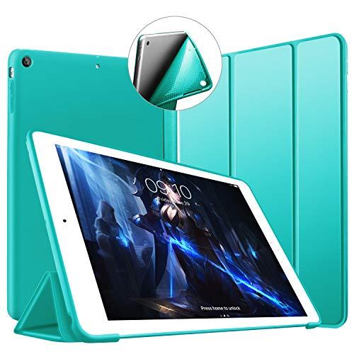 VAGHVEO Custodia per iPad Air, Ultrasottile e Leggere Smart Case con Funzione Auto Sleep/Wake Silicone Morbido TPU Cover per Apple iPad Air 1 9.7 Pollici 2013 (Modello A1474,1475,1476), Menta Verde