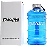 Decisive 1.89 Liter Gallon Water Bottle /Gym Water Bottle / Shaker Bottle / Sport Water Bottle - BPA Free ( Blue Color )