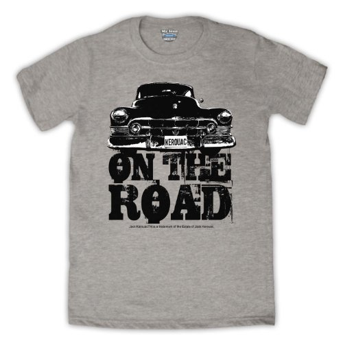 Jack Kerouac On The Road Car Herren T-Shirt Grau