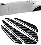 jojoo Lot de 8films protecteurs pour voiture bord de porte protection de porte automatique–Bandes/Stickers protège votre véhicule des rayures, noir ma002