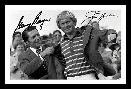 Gary Player & Jack Nicklaus Signiert und gerahmt Foto