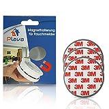 3x PLAVA Magnethalterung für Rauchmelder- Starke 3M Klebepads – Selbstklebend ohne Bohren – Rauchmelder Magnethalter – 3er Set Magnetbefestigung für Rauchmelder – 3 Brandmelder Magnetbefestigung