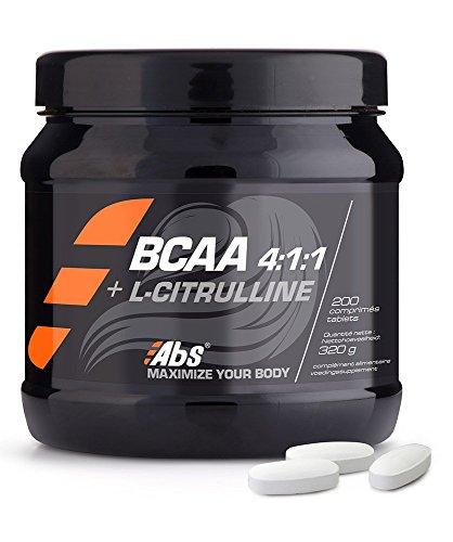 BCAA 4:1:1: + L-CITRULLINE* Formule innovatrice pour booster les performances sportives* 200 comprimés/320g* Fabriqué en FRANCE* Qualité certifiée par certificat d'analyse*