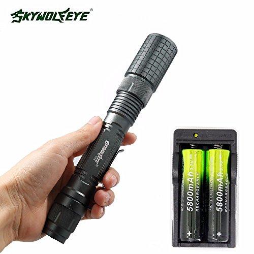 Styledress Taschenlampe akku led aufladbar flashlights lumens blitzlicht Zoomable 4000 Lumen 5 Modi CREE XML T6 LED-Taschenlampe 18650 und Ladegerät waterproof ultrafire