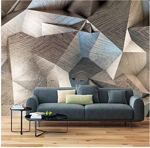 YFXGSTLI Murales de Pared Papel Tapiz Mural 3D Moderno Estereoscópico Abstracto Geométrico Celosía Foto Paño de la Pared Sala de Estar TV Telón de Fondo Decoración para el hogar Murales