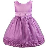 EOZY-Vestito Estivo di Cotone Misto Gonna Principessa con Fiocco per Bambina  (Viola 56aaadf4708