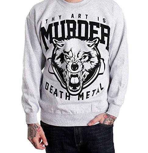 Thy Art is Murder DM Wolf Sportsgrey - Sweater-Large Eine Art Sweatshirt