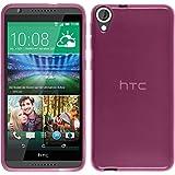 Funda de silicona para HTC Desire 820 - transparente rosa - Cover PhoneNatic Cubierta + protector de pantalla
